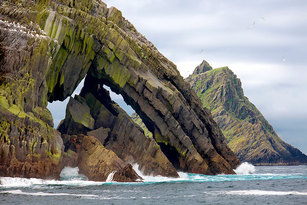 """""""Skellig Portal""""<br /> <br /> Little Skellig and Skellig Michael, Star Wars Movie Location, County Kerry, Ireland ****** <br /> <br /> Visit & browse through my Photography & Art Gallery, located on the Wild Atlantic Way & Skellig Ring between Waterville and Ballinskelligs (Skellig Coast R567), only 3 minutes from the main Ring of Kerry road.<br /> https://goo.gl/maps/syg6bd3KQtw<br /> <br /> ******<br /> <br /> Contact: 085 7803273 from an Irish mobile phone or +353 85 7803273 from an international mobile phone"""