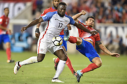 September 1, 2017 - Harrison, New Jersey, U.S - USMNT forward JOZY ALTIDORE (17) defends the ball from Costa Rica defender JOHNNY ACOSTA (2) during a World Cup Qualifier at Red Bull Arena. Costa Rica defeats USA 2 to 0. (Credit Image: © Brooks Von Arx via ZUMA Wire)