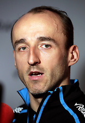 Williams Formula One driver Robert Kubica during the Williams 2019 livery launch at Williams Conference Centre, Grove.