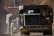 Underground haulage truck leave a portal at a Gold mine in the Western Australian Goldfields.