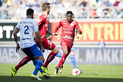 September 24, 2017 - Gent, BELGIUM - Essevee's Peter Olayinka pictured in action during the Jupiler Pro League match between KAA Gent and SV Zulte Waregem, in Gent, Sunday 24 September 2017, on the eighth day of the Jupiler Pro League, the Belgian soccer championship season 2017-2018. BELGA PHOTO JASPER JACOBS (Credit Image: © Jasper Jacobs/Belga via ZUMA Press)