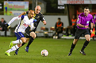 Tottenham Hotspur midfielder Lucas Moura (27) moves forward with the ball during the The FA Cup match between Marine and Tottenham Hotspur at Marine Travel Arena, Great Crosby, United Kingdom on 10 January 2021.