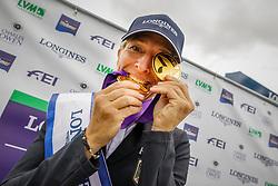 Klimke Ingrid, GER, Gold individual and Team medal<br /> European Championship Eventing<br /> Luhmuhlen 2019<br /> © Hippo Foto - Stefan Lafrentz<br /> 01/09/2019