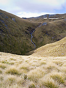 View of the Mount Burns Tarns, Fiordland National Park, Southland, New Zealand