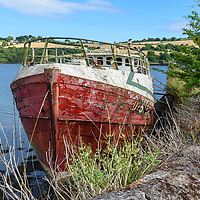 Old trawler tied up at the Old bridge near Kinsale.<br /> Picture. John Allen