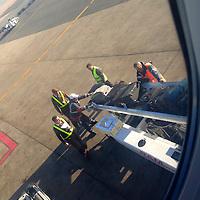 USA, California; Los Angeles. Luggage Ramp Service