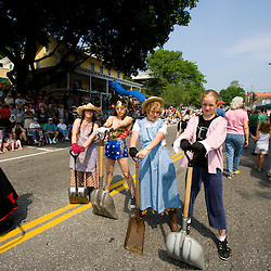 The Strolling of the Heiffers Parade in Brattleboro, Vermont.  The clean up crew.