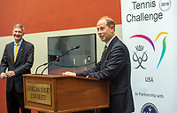 HRH The Prince Edward is visiting GCU as part of his worldwide Court Tennis Challenge. GCU's Court Tennis court was built in 1899 and is the second-oldest court of its kind in the U.S./ Russ DeSantis Photography and Video, LLC