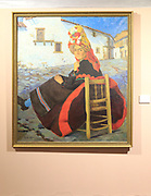 'Esperando al Galon' painting 1946, Juan Caldera Rebolledo (1897-1946) in the museum, Caceres, Extremadura, Spain