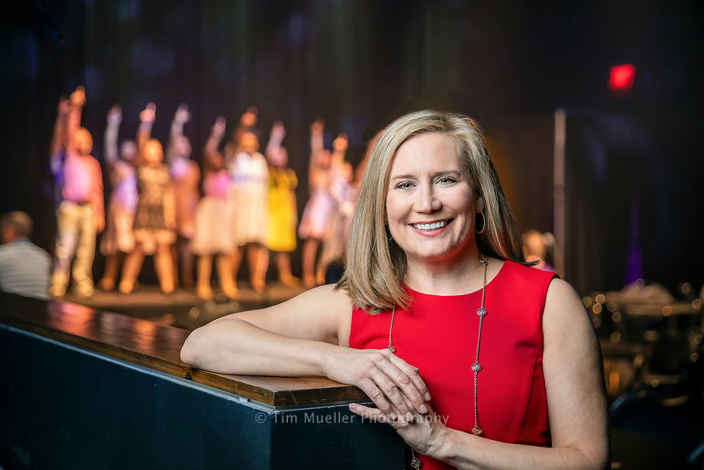 2109 Barton Award winner Melanie Couvillion is at the Manship Theater Hartley/Vey Studio as the Kids' Cabaret rehearses before a show.