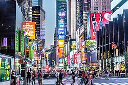 THEMENBILD - Der Times Square in New York City liegt an der Kreuzung Broadway und Seventh Avenue und ist nach dem von der Zeitung New York Times benutzten Gebäude T.S.1 benannt, im Bild die Broadway auf Höhe der 48th Street, Aufgenommen am 08. August 2016 // The Times Square in New York City is located at the junction of Broadway and Seventh Avenue. It is named after the building T.S.1 which is the home of the newspaper New York Times, This picture shows the Broadway at the 48th Street, United States on 2016/08/08. EXPA Pictures © 2016, PhotoCredit: EXPA/ Sebastian Pucher