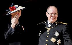 Fürst Albert und Fürstin Charlene bei den Feierlichkeiten zum Nationalfeiertag in Monaco / 191116<br /> <br /> ***National Day in Monaco, November 19th, 2016***