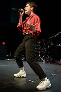 WASHINGTON, DC - November 4th, 2018 - Heloise Letissier of Christine and the Queens performs on stage at the 9:30 Club. She released her sophomore album, Chris, last September and it became a Top 5 album across Europe. (Photo by Kyle Gustafson / For The Washington Post)