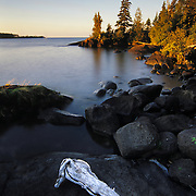 Sunrise over Lake Superior along the Stoll Trail in Isle Royale National Park, MI.