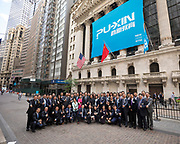 Puxin IPO at the New York Stock Exchange on June 15, 2018 in New York City. (Photo by Ben Hider)