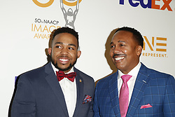 March 9, 2019 - Los Angeles, CA, USA - LOS ANGELES - MAR 9:  Jared Jackson, John Jackson at the 50th NAACP Image Awards Nominees Luncheon at the Loews Hollywood Hotel on March 9, 2019 in Los Angeles, CA (Credit Image: © Kay Blake/ZUMA Wire)