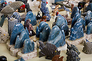 Venda Nova do Imigrante_ES, Brasil...Centro de artesanato em marmore. Na foto detalhe do artesanato...Crafts Center in marble. In the photo crafts detail...Foto: LEO DRUMOND / NITRO