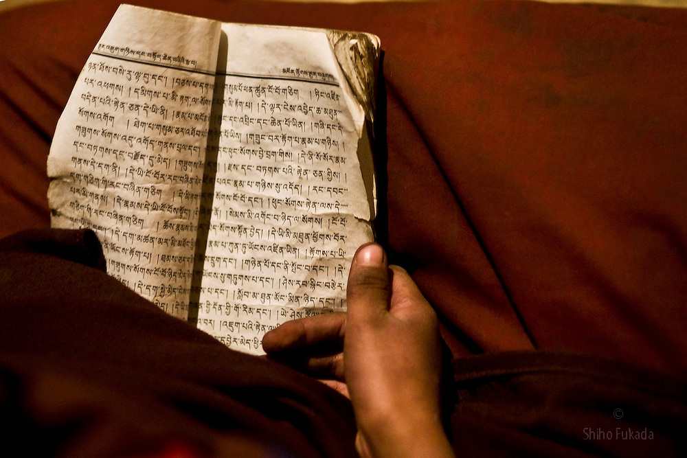 Tibet New Year - China - Edward Wong<br /> A prayer book is seen at Rongwo monastery  (Longwu in Chinese) in Rebkong (Tongren in Chinese), Qinghai province in China, February 23, 2009. Photo by Shiho Fukada for The New York Times
