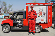 Electric powered firetruck Rizhao, Shandong province, China