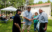 Merrimack County Democrats backyard BBQ in Canterbury, NH  August 21, 2011.