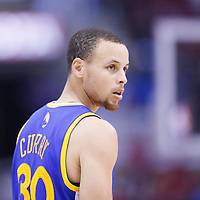 21 April 2014: Golden State Warriors guard Stephen Curry (30) rests during the Los Angeles Clippers 138-98 victory over the Golden State Warriors, during Game Two of the Western Conference Quarterfinals of the NBA Playoffs, at the Staples Center, Los Angeles, California, USA.