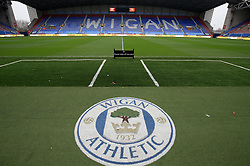A general view of the DW stadium prior to the Sky Bet Championship game between Wigan Athletic and Derby County.