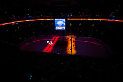 Opening ceremony during NHL game between teams Chicago Blackhawks and Philadelphia Flyers at NHL Global Series in Prague, O2 arena on 4th of October 2019, Prague, Czech Republic. Photo by Grega Valancic / Sportida