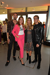 Hugo Taylor, Millie Mackintosh, Emma Louise Connolly, Ollie Proudlock at the Emporio Armani YOU fragrance launch at Sea Containers, 18 Upper Ground, London England. 20 July 2017.<br /> Photo by Dominic O'Neill/SilverHub 0203 174 1069 sales@silverhubmedia.com