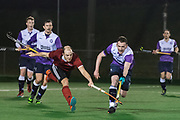 Southgate v Old Loughtonians - Men's Hockey League East Conference, Trent Park, London, UK on 15 March 2018. Photo: Simon Parker
