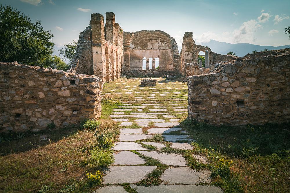 Church of Agios Achillios founded in ca. 986-990 by tsar Samuel of Bulgaria at Agios Achillios island, Prespa Lakes, Greece