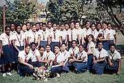 Class photo group of sixth form students, Bishop Anstey high school for girls, Port of Spain, Trinidad 1961