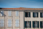 Traditional French architecture in La Flotte, Ile de Re, France