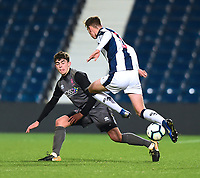 Lincoln City U18's Gianluca Bucci vies for possession with  West Bromwich Albion U18's Taylor Gardner-Hickman<br /> <br /> Photographer Andrew Vaughan/CameraSport<br /> <br /> FA Youth Cup Round Three - West Bromwich Albion U18 v Lincoln City U18 - Tuesday 11th December 2018 - The Hawthorns - West Bromwich<br />  <br /> World Copyright © 2018 CameraSport. All rights reserved. 43 Linden Ave. Countesthorpe. Leicester. England. LE8 5PG - Tel: +44 (0) 116 277 4147 - admin@camerasport.com - www.camerasport.com