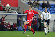 Sam Vokes of Wales. Wales v Scotland, friendly international football match at the Cardiff City stadium, Cardiff, Wales, UK on Sat 14th Nov 2009.  pic by Andrew Orchard, Andrew Orchard sports photography