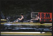 Lucerne, SWITZERLAND, USA M2- Bow Ted SWINFORD and John RILEY, 1988 Lucerne International Regatta, Lake Rotsee. June 1988 [Mandatory Credit - Peter Spurrier/Intersport Images]