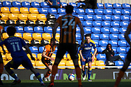 AFC Wimbledon midfielder George Dobson (24) dribbling during the EFL Sky Bet League 1 match between AFC Wimbledon and Hull City at Plough Lane, London, United Kingdom on 27 February 2021.