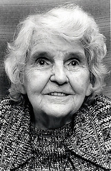 Portrait of an elderly woman, Nottingham, UK 1991