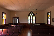 Window 7 on plan.<br /> Tremont Baptist Church, Seal Cove, Maine.