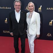 NLD/Utrecht/20181005 - L'OR Gouden Kalveren Gala 2018, Monique van de Ven en partner Edwin de Vries