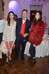 Left to right, CELIA WEINSTOCK, SEBASTIAN LYON and TISH WEINSTOCK at the Tatler Best of British party in association with Jaegar held at The Ritz, Piccadilly, London on 28th April 2015.