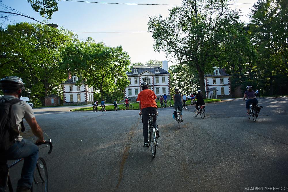 Mount Pleasant<br /> A bike tour of East Fairmount Park and its historic mansions. Fairmount Park experts Rob Armstrong and Jason Mifflin lead a group through the park with stops at Mount Pleasant, Rockland, Ormiston, Laurel Hill, Strawberry and Woddford mansions. The mansions were once a series of private summer estates owned by wealthy Philadelphians, but later became one of the biggest and most famous urban parks in the world.<br /> May 12, 2015