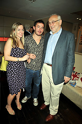Left to right, Writer & broadcaster Victoria Coren, Giles Coren and PIERRE KOFFMAN at the launch of Tom Parker Bowles's new book 'Full English' held in the Gallery Restaurant, Selfridges, Oxford Street, London on 9th September 2009.