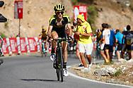 Simon Yates (GBR - Mitchelton - Scott) during the UCI World Tour, Tour of Spain (Vuelta) 2018, Stage 4, Velez Malaga - Alfacar Sierra de la Alfaguara 161,4 km in Spain, on August 28th, 2018 - Photo Luca Bettini / BettiniPhoto / ProSportsImages / DPPI