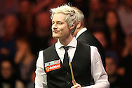 Neil Robertson (Aus) looking on. Ronnie O'Sullivan (Eng) v Neil Robertson (Aus), Quarter-Final match at the Dafabet Masters Snooker 2017, at Alexandra Palace in London on Thursday 19th January 2017.<br /> pic by John Patrick Fletcher, Andrew Orchard sports photography.
