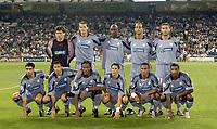 Fotball<br /> UEFA Champions League 2003/2004<br /> 24.09.2003<br /> Frankrike<br /> Foto: Digitalsport<br /> NORWAY ONLY<br /> <br /> FOOTBALL - CHAMPIONS LEAGUE 2003/04 - 1ST ROUND - 030916 - REAL MADRID v OLYMPIQUE MARSEILLE - TEAM MARSEILLE ( BACK ROW LEFT TO RIGHT : VEDRAN RUNJE / DANIEL VAN BUYTEN / ABDOULAYE MEITE / MIDO / JOHNNY ECKER. FRONT ROW: FABIO CELESTINI / BRAHIM HEMDANI / DIDIER DROGBA / CAMEL MERIEM / STEVE MARLET / HABIB BEYE ) - PHOTO PHILIPPE LAURENSON