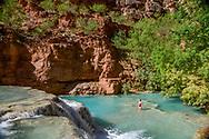 Beaver Falls in Supai, Arizona.