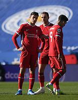 Football - 2020 / 2021 Premier League - Leicester City vs Liverpool - King Power Stadium<br /> <br /> Liverpool's Jordan Henderson speaks to Ozan Kabak.<br /> <br /> COLORSPORT/ASHLEY WESTERN