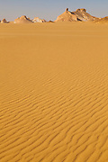 Sand ripples at the edge of the Sahara Beida (White Desert), Egypt