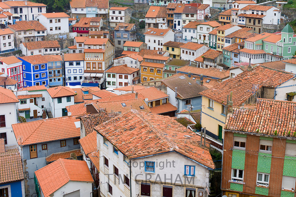 Fishing village of Cudillero in Asturias, Spain RESERVED USE