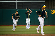 Oakland Athletics right fielder Matt Joyce (23) catches a pop fly against the San Francisco Giants at Oakland Coliseum in Oakland, California, on July 31, 2017. (Stan Olszewski/Special to S.F. Examiner)